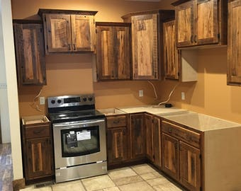 Barnwood Kitchen Cabinets, Rustic Cabin Cabinet, Custom Made to Order, Build Your Dream Kitchen! Skaggs Creek Wood Shop, Tyler Adams, TN