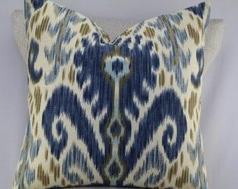 Ikat pillow cover,throw pillow,decorative pillow,accent pillow,lumbar pillow,same fabric front and back.