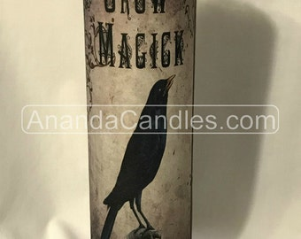 Hoodoo Voodoo Crow Magick Fixed 7 Day Candle Witchcraft