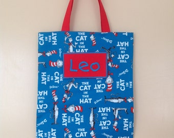 Personalised Library bag - Cat in the Hat