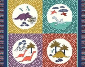 Dinosaurs Quilting Panel-from Lewis and Irene
