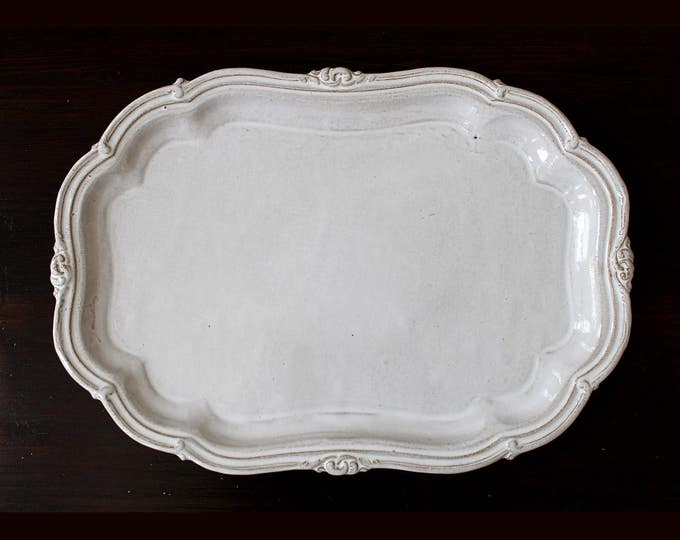 1 in Stock! Large Infinity Stoneware Platter
