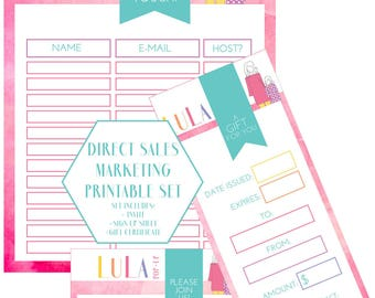Direct Sales Invite, Gift Certificate & Signup, Great for Independent Sales Consultant, Direct Sales Marketing Printable, Pop-Up Boutique