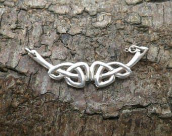 Vintage Sterling Silver Celtic Necklace Pendant