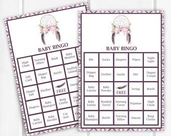 Baby Bingo, Baby Shower Game, Item 240