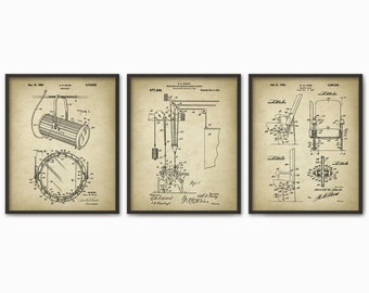 Theater Patent Prints Set of 3 - Drama Student - Theater Art - Performing Arts - Theatrical Equipment - Actor Actress Gift - Stage School