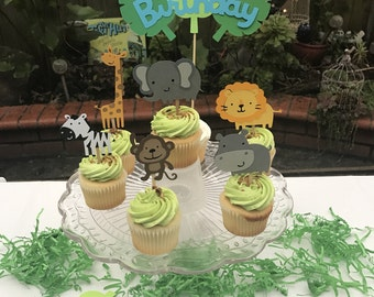 Zoo / Jungle / Safari themed cupcake toppers