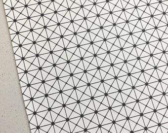 Black & White Squares Leatherette A5 Sheets Geometric Leatherette Vegan Leather