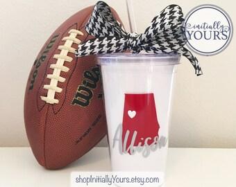 Alabama Tumbler, Personalized Bama Cup, Alabama Gift, Roll Tide, Crimson Tide, Bama Monogram, State of Alabama, University of Alabama