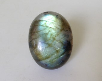 Labradorite Cabochon. Natural Gemstone Cabochon. Blue & Gold Flash Semi-precious Cabochon. Chunky Oval Cabochon. GC206gg
