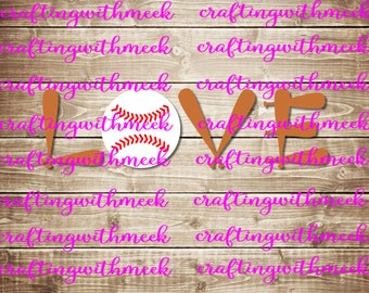 Baseball Love SVG - Cricut Explore - Design Space