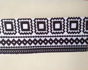 Black & White Aztec Spandex Headband