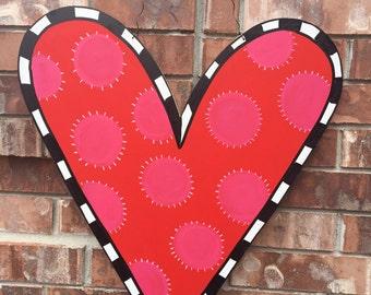 Valentines Door Hanger, Heart Door Hanger, Valentines Wreath, Valentines Decor, Heart Wreath, Valentines Day Decor, Winter Door Hanger
