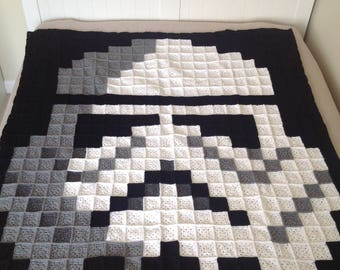 Storm trooper crochet pixel blanket