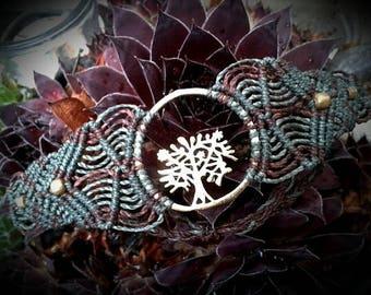 flower/tree/seed of life or Om macrame bracelet/anklet