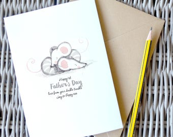 Personalised 'Twins' Father's Day Card
