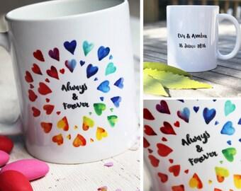 lesbian girlfriend gift mrs and mrs mugs personalized couples mugs lesbian wedding couple
