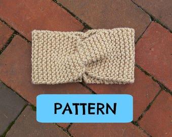 Garter Stitch Twist Headband Knitting Pattern