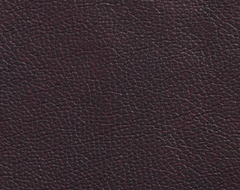 Brown Breathable Leather Look And Feel Upholstery By The Yard | Pattern # G436