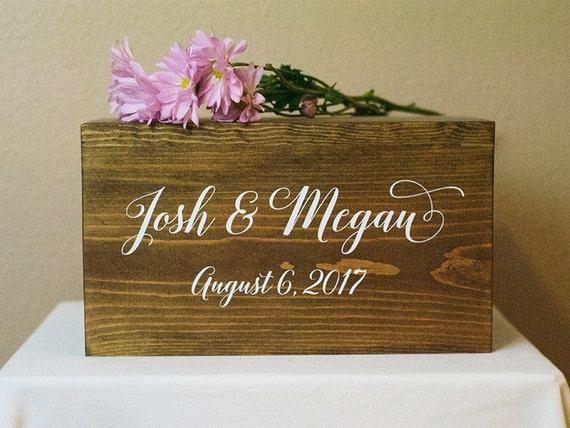Personalized Wedding Card Box Boho wedding card box money – Card Box Wedding
