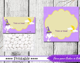 Halloween Treat Bag Toppers - Halloween Favors - Printable Halloween Bag Topper - Halloween printable - pdf - pdf printable - Party favors