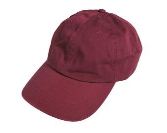 Vintage Land's End Maroon Golf Dad Hat