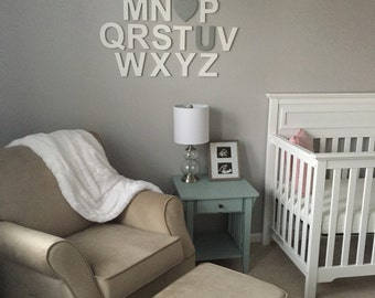 Painted Alphabet Letters Set, Nursery, Kids room Decor, Wooden Wall Letters, Wooden Alphabet Decor