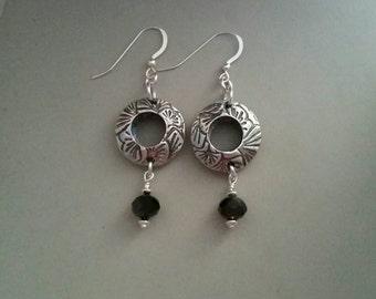 PMC3 fine silver earrings.