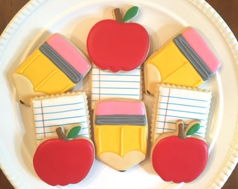 Back to School | Teacher Appreciation | Teacher Gift | School Cookies | One Dozen