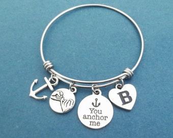 anchor me bracelet etsy