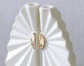 Passover gift - Geometric Shabbat candlesticks, with 24k gold pattern. Modern judaica, Wedding gift from Israel,