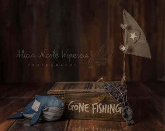Gone Fishing Digital Photography Backdrop