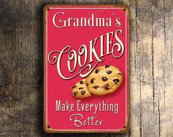 GRANDMAS COOKIES SIGN, Vintage style Grandmas Cookies Sign, Customizable, Personalized Cookies sign, Grandmas Cookies Make Everything Better