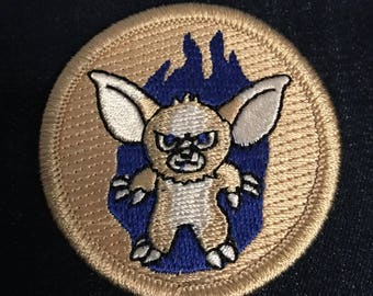 Gizmo Gremlin Patch (1) - blue gremlin angry gizmo bsa