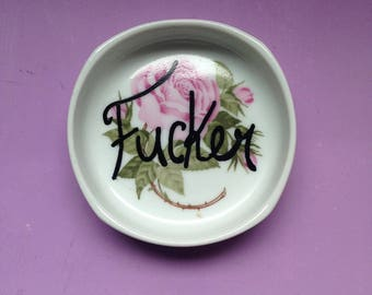 "Vintage Rosenthal ""F*cker"" Ashtray"