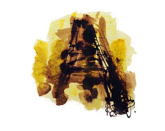 Abstract no.9 Art Print, Original Ink Drawing, Abstract, Nature Inspired Artwork