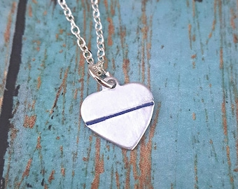 Police jewelry etsy police wife necklace police wife thin blue line police blue lives jewelry aloadofball Gallery
