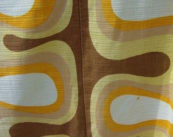 large Panton era ready sewed OP Art lounge curtain fabrics
