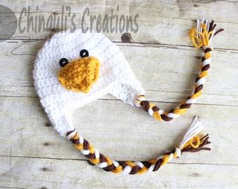 Crochet Bald Eagle Outfit Baby Bald Eagle Newborn Outfit Bald Eagle Hat Crochet Bald Eagle Hat