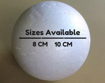 8cm or 10cm Styrofoam Polystyrene Ball for Crafting.