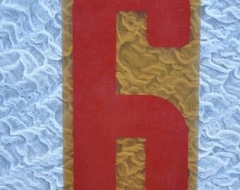 Vintage Marquee Number 6, Red Number, Vintage Advertising, Vintage Numbers, Vintage Signage, Gas Station Number