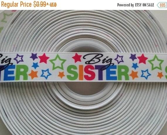 "SUPER SALE BIG Sister 7/8"" 22mm Grosgrain Hair Bow Craft Ribbon 782253"