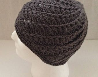 knitted/crochet slouchy beanie hat, knit hats, Father's Day birthday gift, man's hat, woman's hat, beanie hat, men's winter beanie hat,