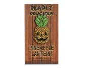 Deadly Delicious Glitter Pineapple Lantern Pin