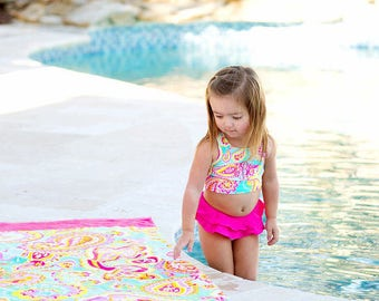 Monogrammed  Bathing Suit, Monogrammed Swim Suit, Nikini