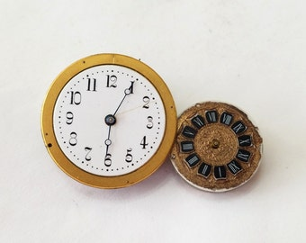 Vintage, Set, Cavour, Pocket Watch, Movement, Dial, Wrist Watch, Lot, Steampunk, Altered Art, Jewelry, Beading, Supply, Supplies