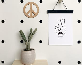Peace Man Art Print | Kids Poster