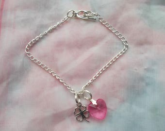 Sale on 1 Beautiful Handmade Luck and Love Charm Bracelet for someone special