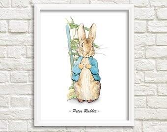 """Peter Rabbit Nursery, Peter Rabbit, Beatrix Potter Nursery, Peter Rabbit Decor, Instant Download, Peter Rabbit Baby, Beatrix Potter, 8x10"""""""