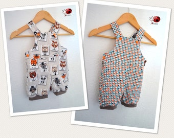 Reversible romper with short legs
